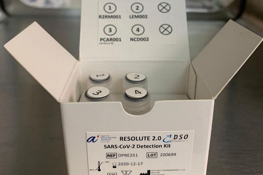 The Resolute Covid-19 test kit developed by DSO National Laboratories and A*Star can deliver test results in about 1.5 hours.