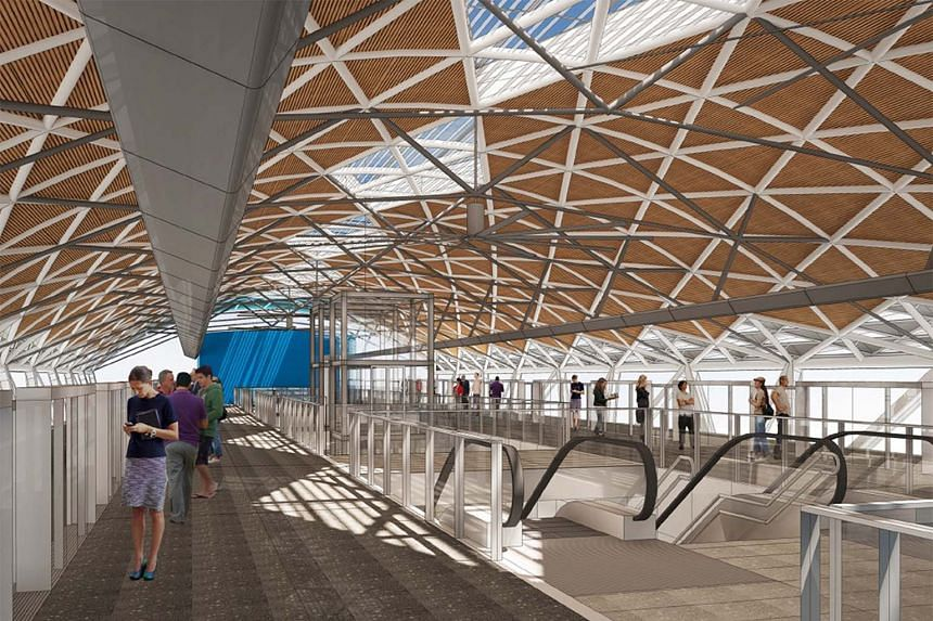 An artist's impression of the Toh Guan MRT station on the Jurong Regional Line. It will cater to residents living in Jurong East Central.