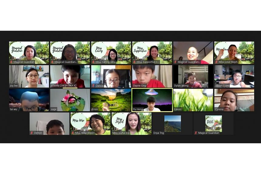 Buddhist temple Thekchen Choling (Singapore)'s dharma lessons for children and youth are conducted on Zoom.