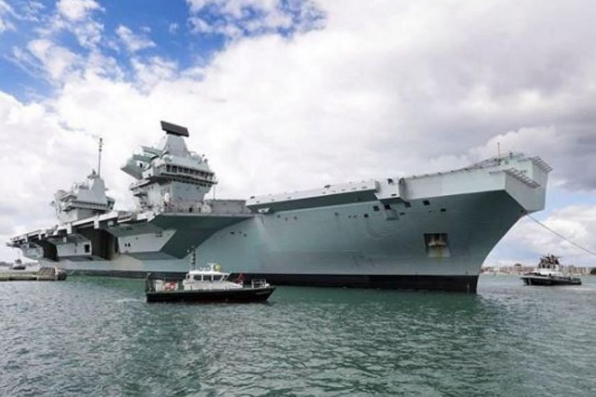 The HMS Queen Elizabeth is due to set sail on a tour that includes the Pacific amid concerns over freedom of navigation in the South China Sea.