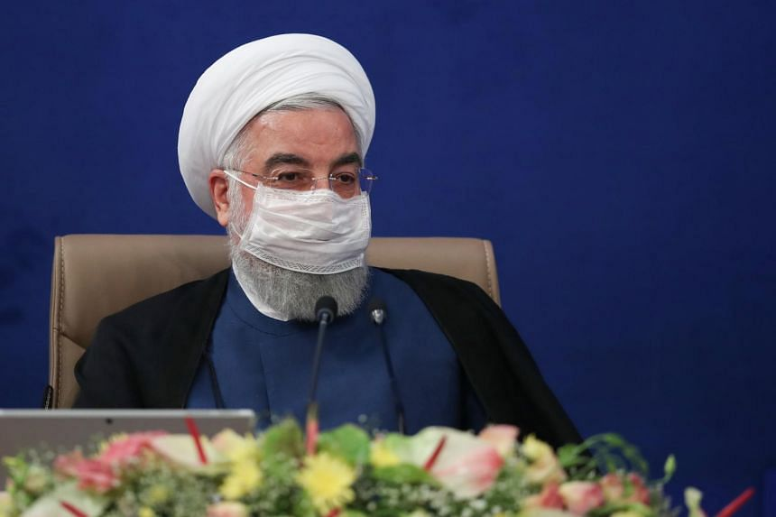 Iranian President Hassan Rouhani during the cabinet meeting in Teheran, Iran, on July 8, 2020.