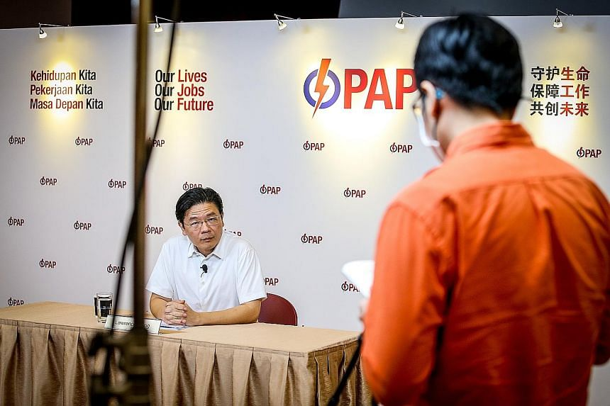 National Development Minister Lawrence Wong said that going into the election, the PAP knew it was a challenge. PHOTO: LIANHE ZAOBAO