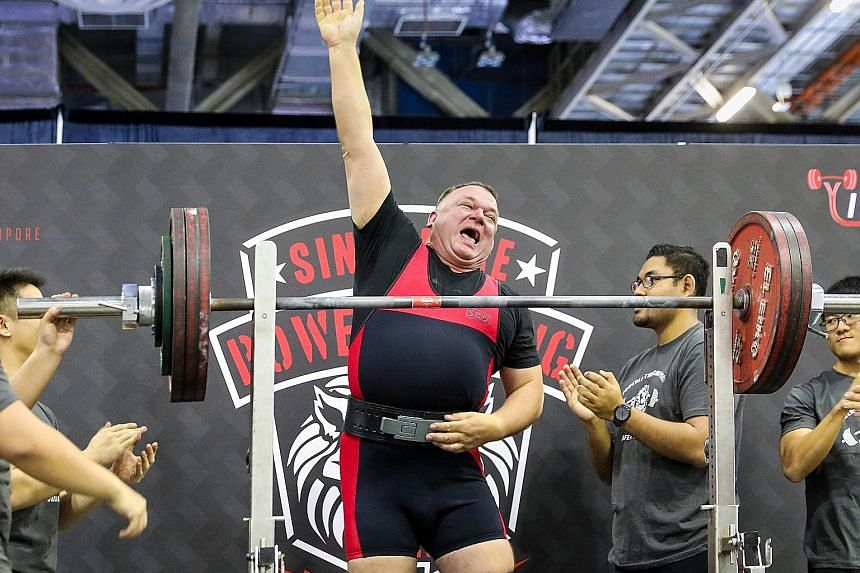 Mr Martin Schweiger, who runs an international firm of patent attorneys here, competed at the Singapore Powerlifting Open last year. He gave up his German citizenship and is now a Singapore citizen.
