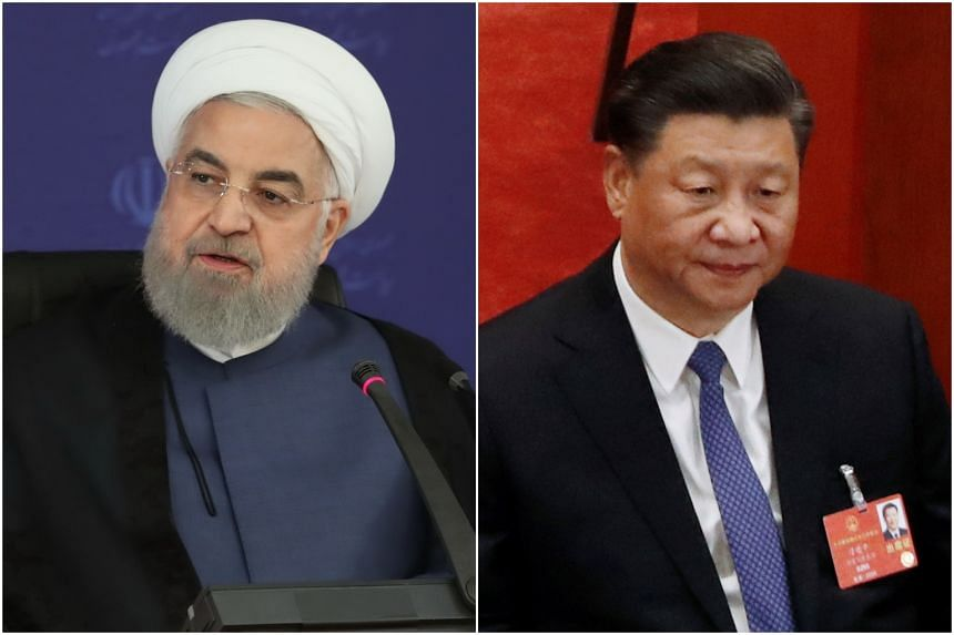Numerous agreements signed by Presidents Xi Jinping (right) and Hassan Rouhani in 2016 would, if implemented, expand economic relations.