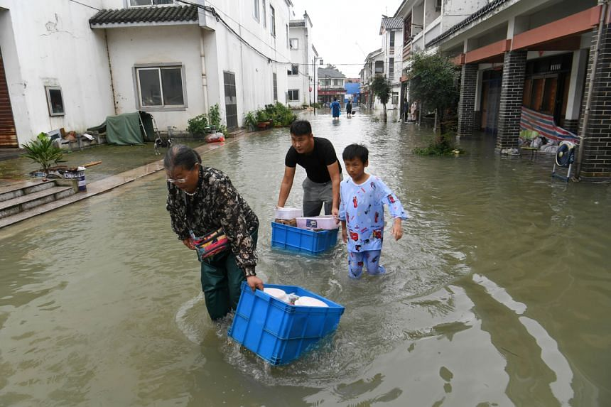 A total of 35 rivers and lakes in Anhui saw high water marks exceed warning levels by noon on July 18, 2020.