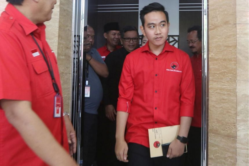 Rakabuming Raka exits after taking part in an assessment in Central Jakarta, on Feb 10, 2020.