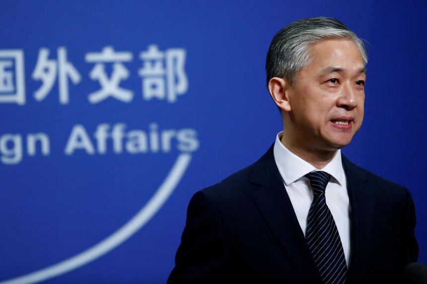 """Foreign ministry spokesman Wang Wenbin called the comments """"nothing but rumours and slander""""."""