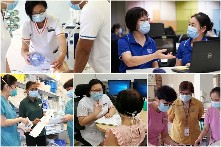 (Clockwise from top left) Ms Patricia Yong, Ms Tay Yee Kian, Ms Chin Soh Mun, Dr Alice Chua and Ms Kala Narayanasamy.