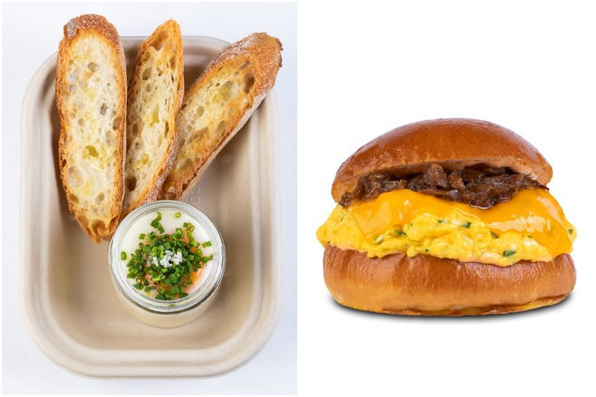 """Eggslut is best known for its signature """"Slut"""" dish (left) and The Fairfax burger."""