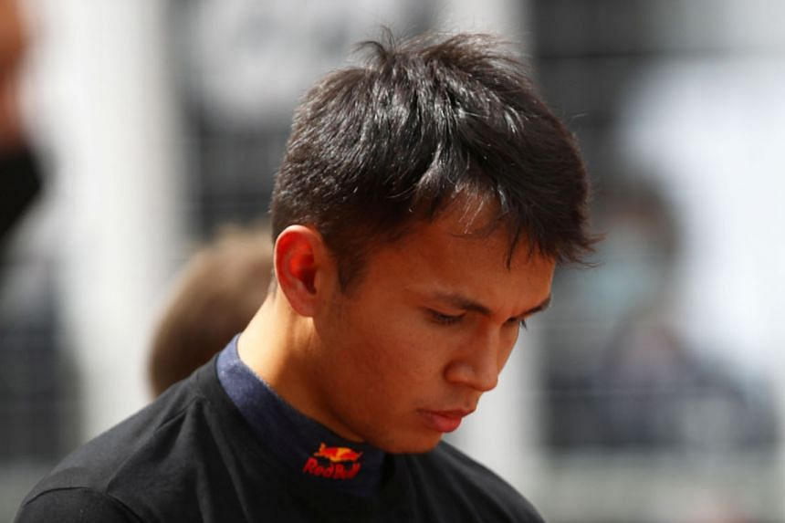 Alex Albon, seen driving during practice at the Hungaroring, has been backed by his team boss Christian Horner for his performances at the season's three opening grands prix.