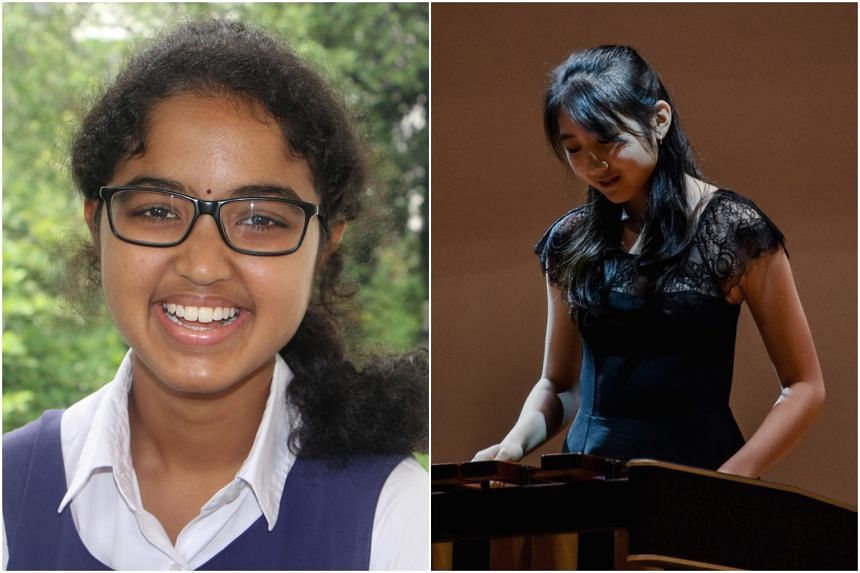 Ms Sundaram Mohan Shakthi (left) and Ms Janika Oh will be receiving the Singapore Police Force Scholarship and the Public Service Commission Scholarship (Engineering) respectively.