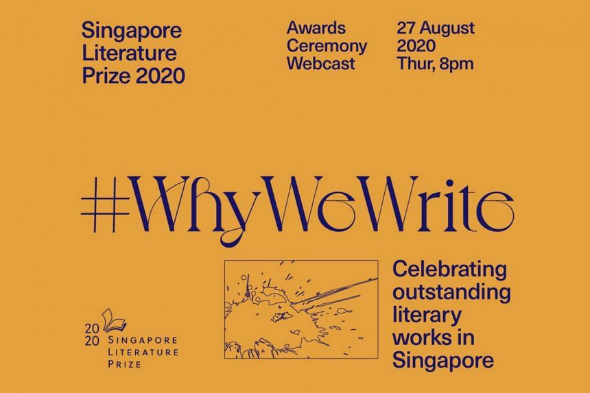 The Singapore Literature Prize will go virtual for the first time on Aug 27, 2020.