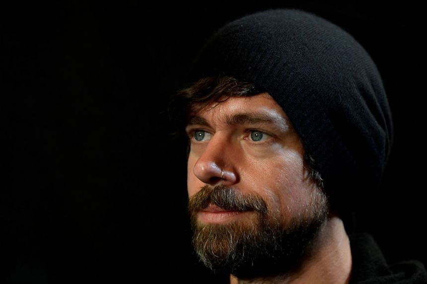 A 2019 photo shows Jack Dorsey sitting for a portrait during an interview with Reuters in London.