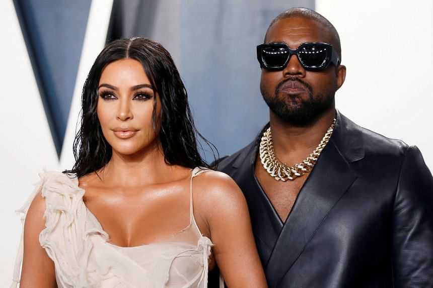 Kim Kardashian and Kanye West attend the Vanity Fair Oscars party in Beverly Hills in February 2020.