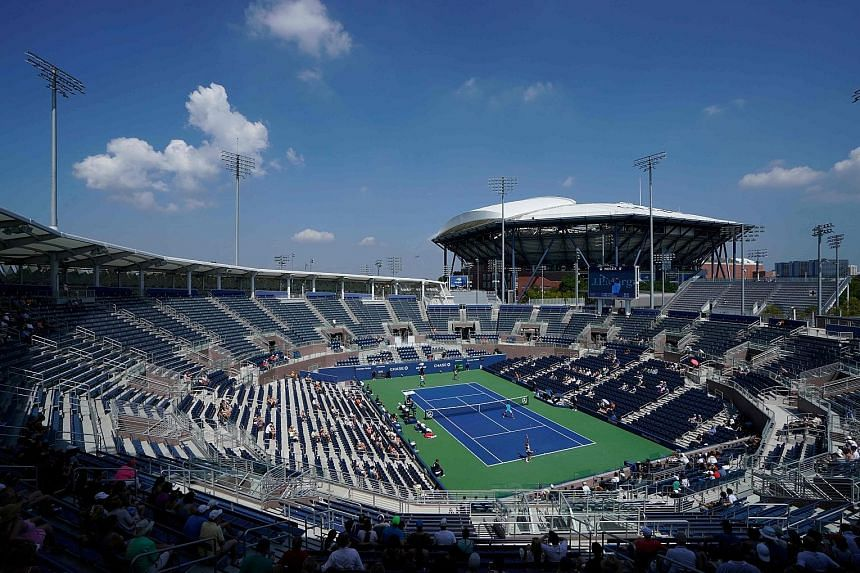 A sparse crowd at the Grandstand Court for a men's doubles third-round match at the 2018 US Open. This year's tournament will be held behind closed doors.