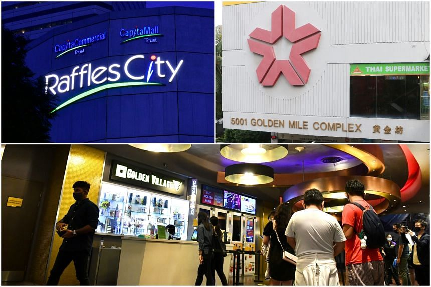 Raffles City Shopping Centre, Golden Mile Complex and the Golden Village cinema in VivoCity are some of the new places visited by Covid-19 patients.