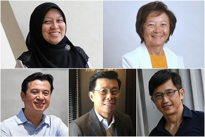 (Clockwise, from top left) Dr Intan Azura Mokhtar, Ms Lee Bee Wah, Mr Teo Ser Luck, Mr Lee Yi Shyan and Dr Chia Shi-Lu.