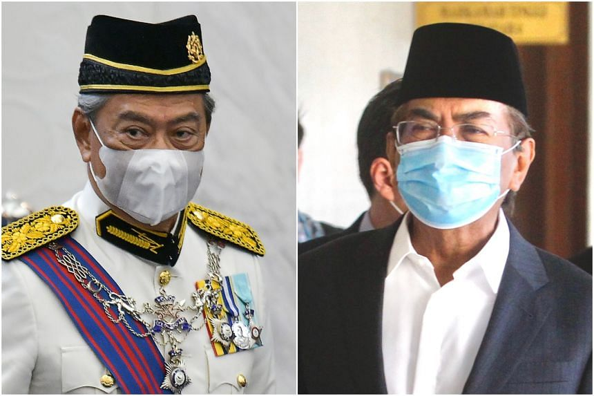 It is understood that discussions between Prime Minister Muhyiddin Yassin (left) and Umno's Musa Aman have paved the way for the coup.