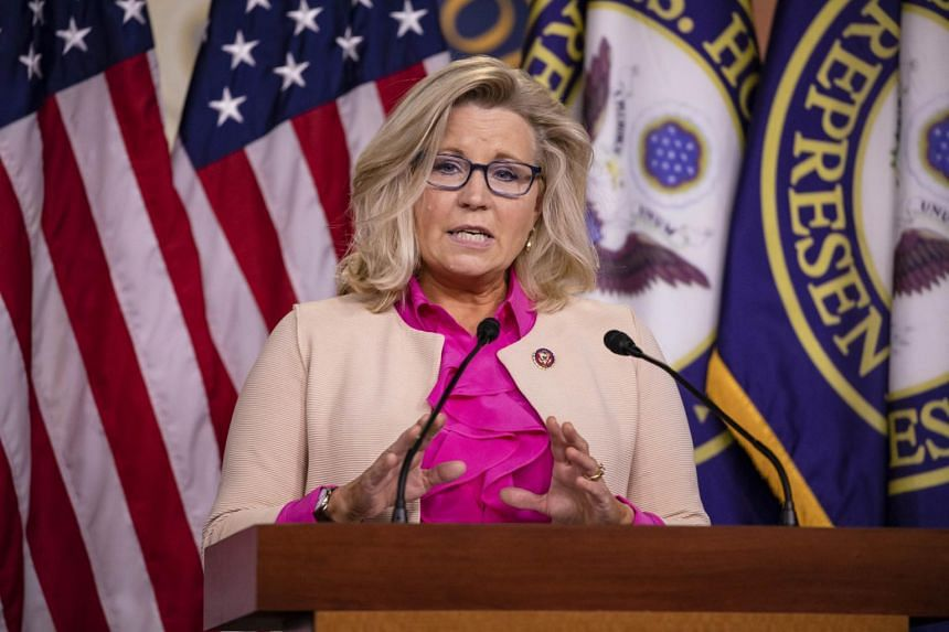 Mr Trump decided to join with conservatives in the House, who accused Ms Liz Cheney of being disloyal to the president.
