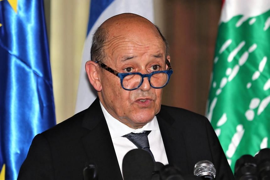 French Foreign Minister Jean-Yves Le Drian said the situation for Uighur Muslims in the western region of Xinjiang was unacceptable.