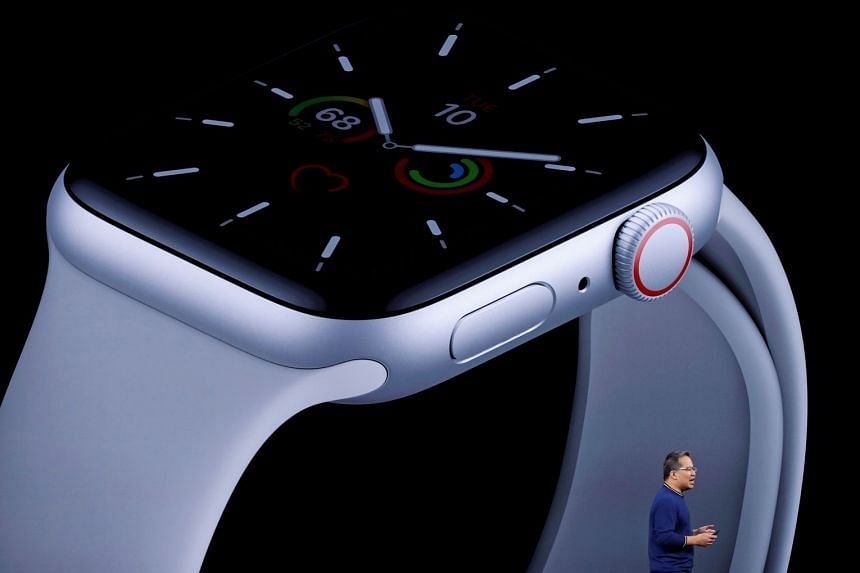 Stan Ng presents the new Apple Watch in Cupertino, California, in September 2019.