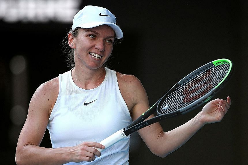 Simona Halep, pictured during January's Australian Open, appears to be concentrating on clay-court tournaments in Europe and could skip the US Open, which starts on Aug 31 in New York.