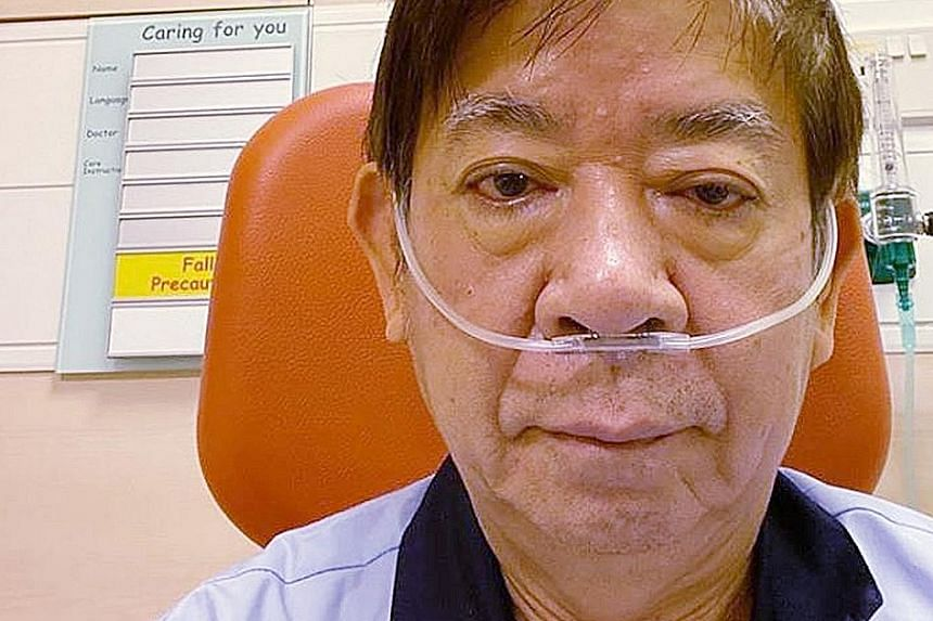 Transport Minister Khaw Boon Wan, who is retiring from politics, is down with dengue for the third time. His first brush with the mosquito-borne disease was in the 1980s. PHOTO: KHAW BOON WAN/FACEBOOK