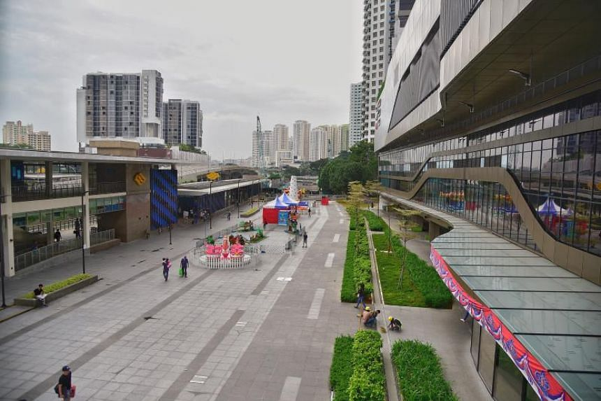A new community cluster was identified at Bukit Panjang Integrated Transport Hub which is linked to Hillion Mall.