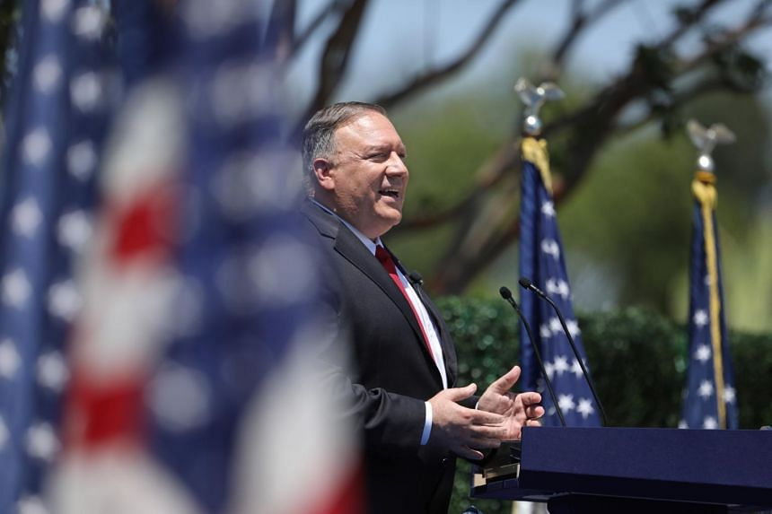 """US Secretary of State Mike Pompeo called for """"a new alliance of democracies""""."""