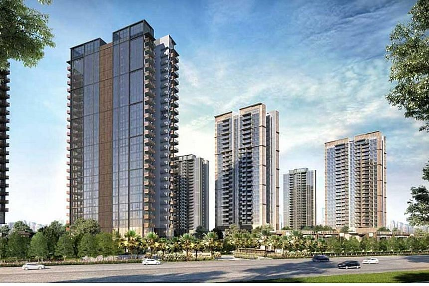 People at the Kopar at Newton show-flat on June 20, a day after show-flats were allowed to reopen. The 0.3 per cent rise in new private home prices in the second quarter stands in contrast to the 1 per cent decline in the first quarter, but analysts