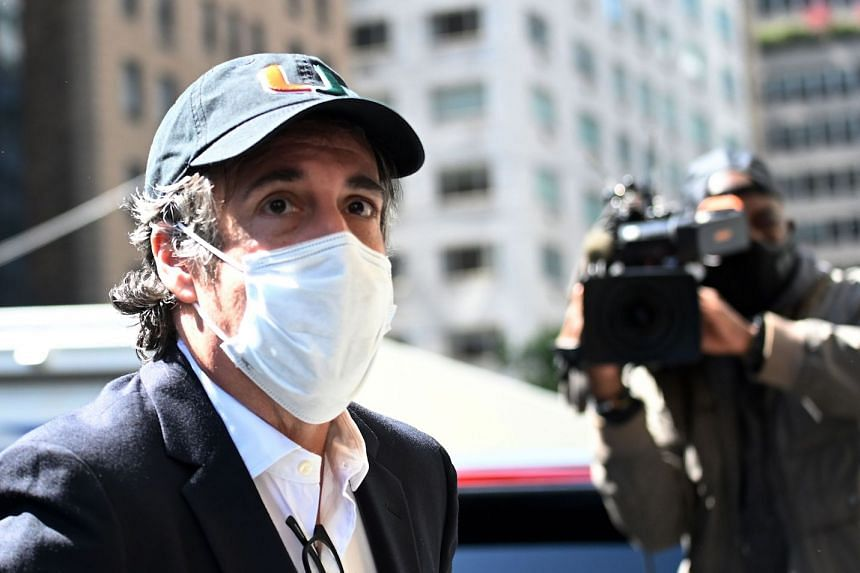 A May 2020 photo shows Cohen arriving at his Park Avenue apartment in New York City.