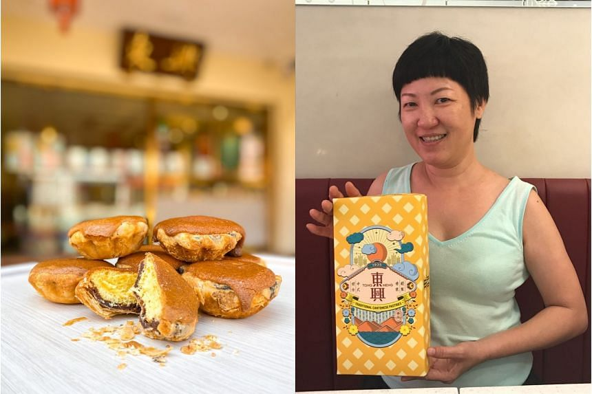Pastry shop Tong Heng is bringing back its CakeXPastry (left) to mark National Day. Ms Ana Fong (right) is a fourth-generation member of the family-run business.
