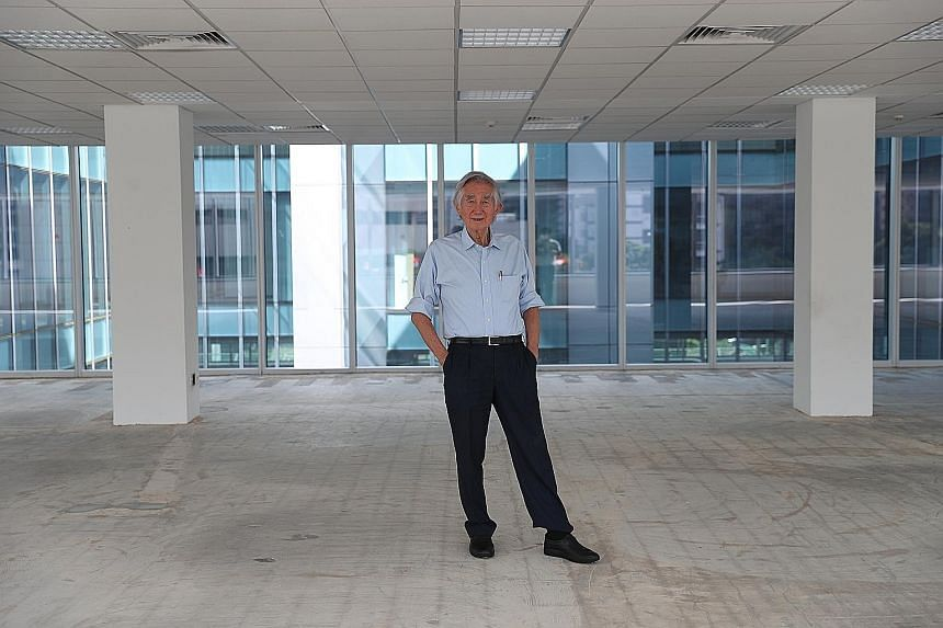 Mr Liu disputes a popular complaint that Singapore lacks social spaces by citing the neighbourhood parks, pedestrian malls, civic centres and playgrounds that have been built. ST PHOTO: GIN TAY Architect and former Urban Redevelopment Authority chief