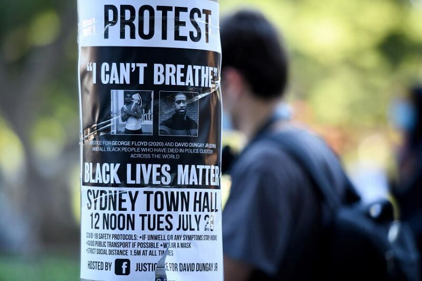 The Black Lives Matter march was planned for July 28 in central Sydney.