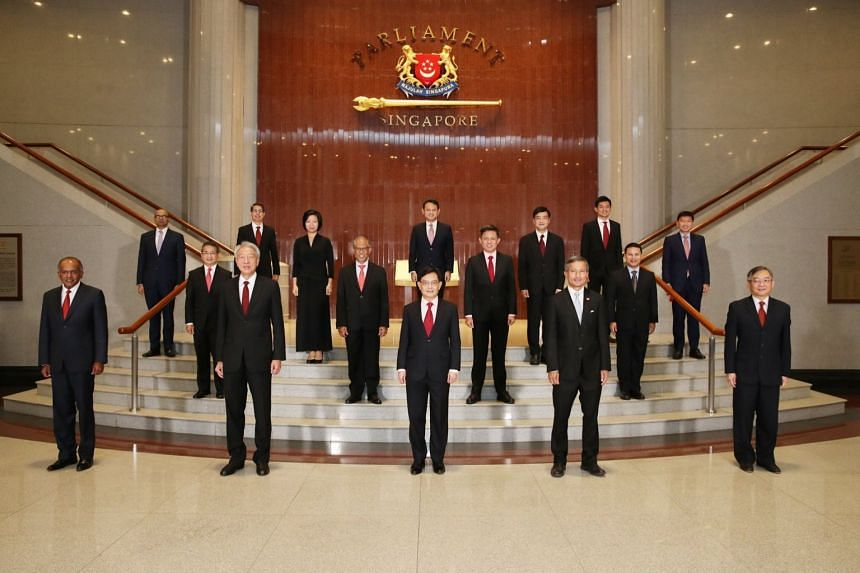 Newly sworn-in Cabinet ministers at Parliament House.