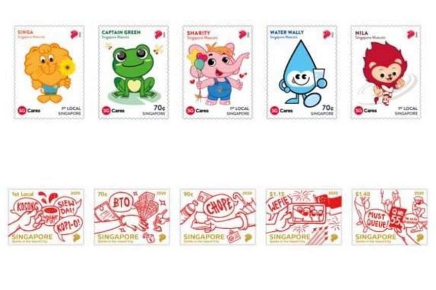The mascot-themed set (above) will be available from Aug 3 while the Singaporean lingo set will be available from Aug 7.