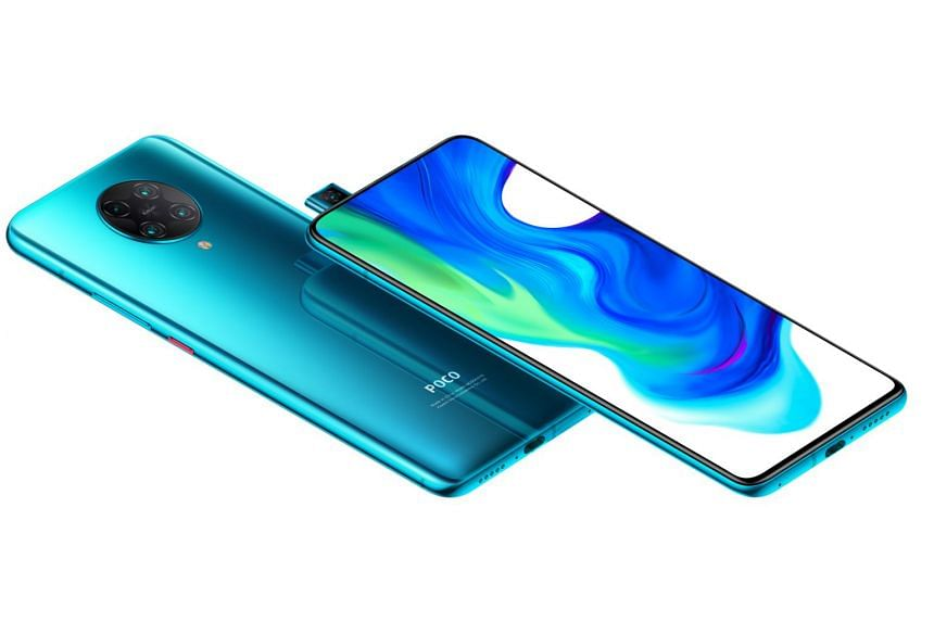 The Poco F2 Pro features a near-bezel-less screen without any camera notch.
