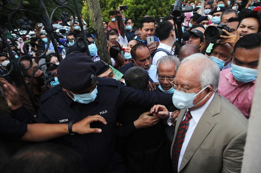 Najib's case on Tuesday is for three counts of criminal breach of trust, one count of abuse of power, and three counts of money laundering.