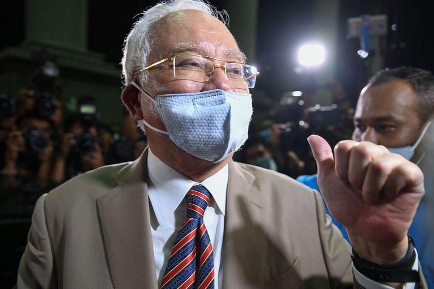 Malaysia's former prime minister Najib Razak leaving the Duta Court complex in Kuala Lumpur on July 28, 2020.