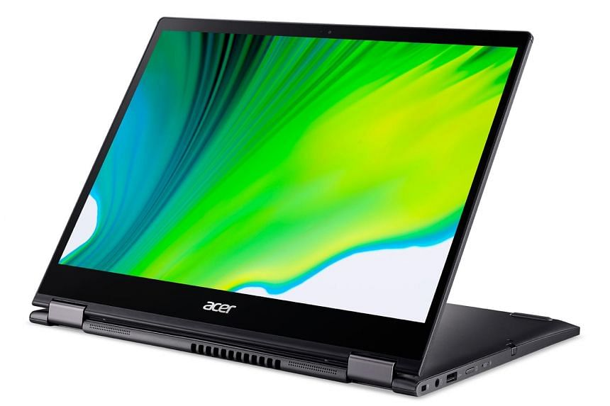 The screen bezels have been reduced slightly to give the Acer Spin 5 a more contemporary look.