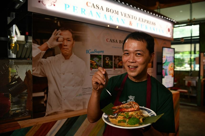 Lionel Chee with his Nonya Dry Laksa from Casa Bom Vento Express.