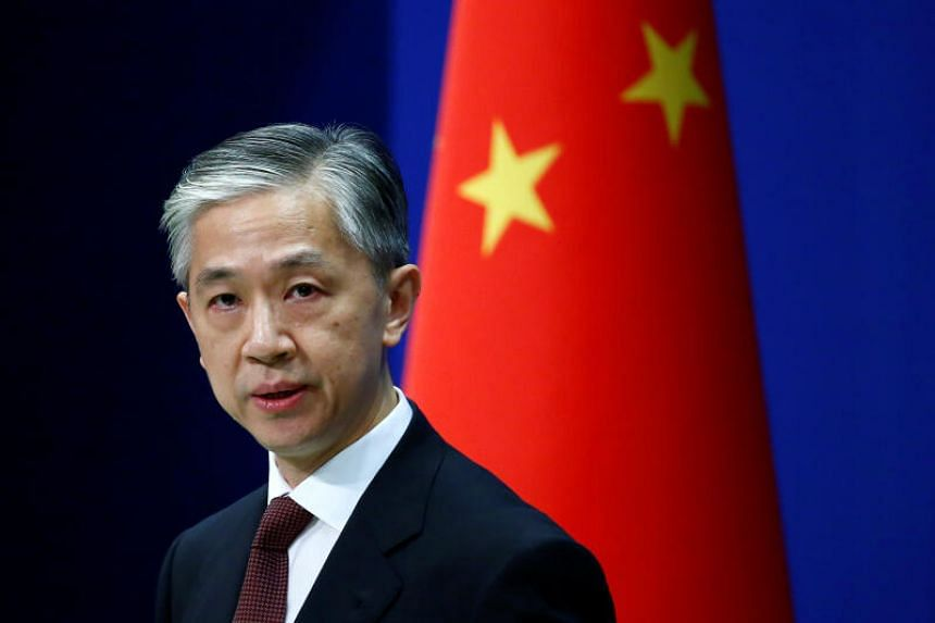 Wang Wenbin said that the three countries' decision constituted a gross interference in China's internal affairs.