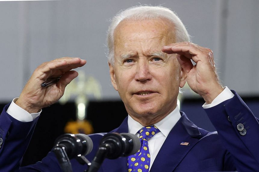 Biden speaks about his plans to combat racial inequality at a campaign event in Wilmington, Delaware, July 28, 2020.