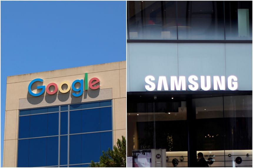 The potential deal would promote Google's digital assistant and Play Store for apps on Samsung devices.