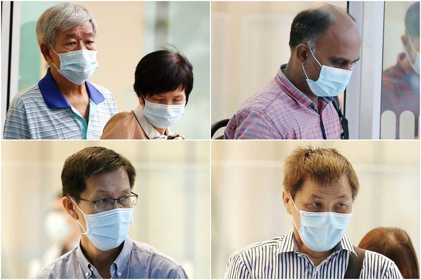(Clockwise from top-left) Ang Lian Seng and Chan Kit Hoe, Rayappan Antony Sagayaraj, Ng Boon Huat, Ng Boon Hwa.