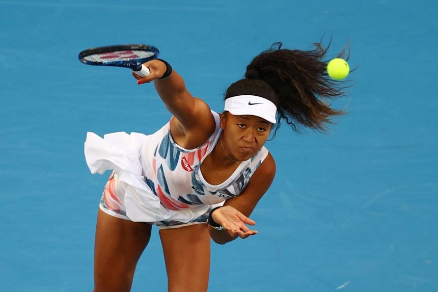 Osaka in action against Cori Gauff of the US during the Australian Open in January 2020.