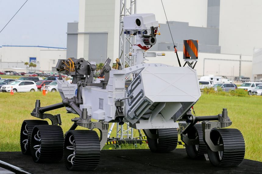 Perseverance (pictured) is largely the same design as the Curiosity rover, which set down in 2012.