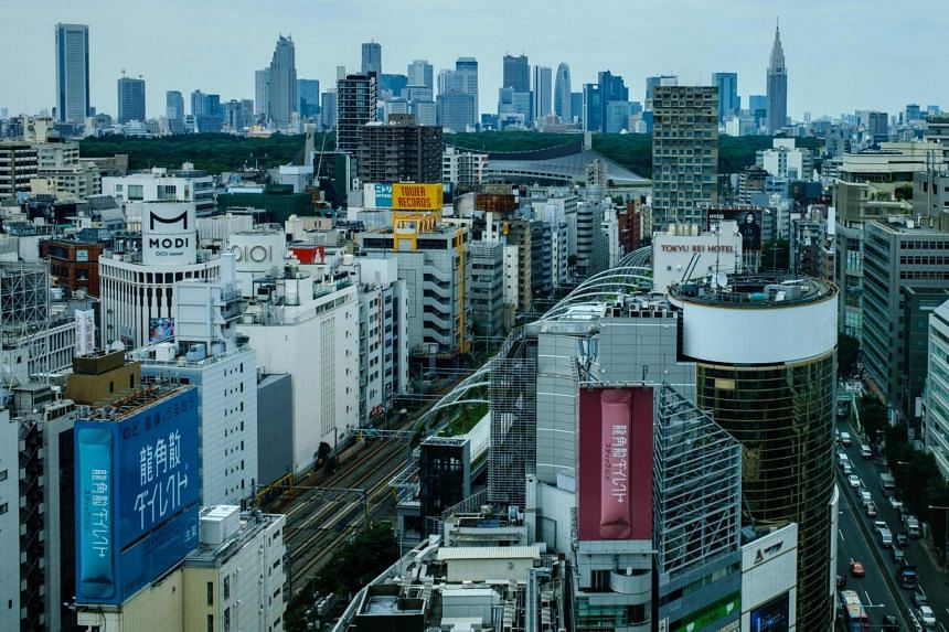 A view of the Shinjuku skyline in Tokyo, on July 16, 2020.