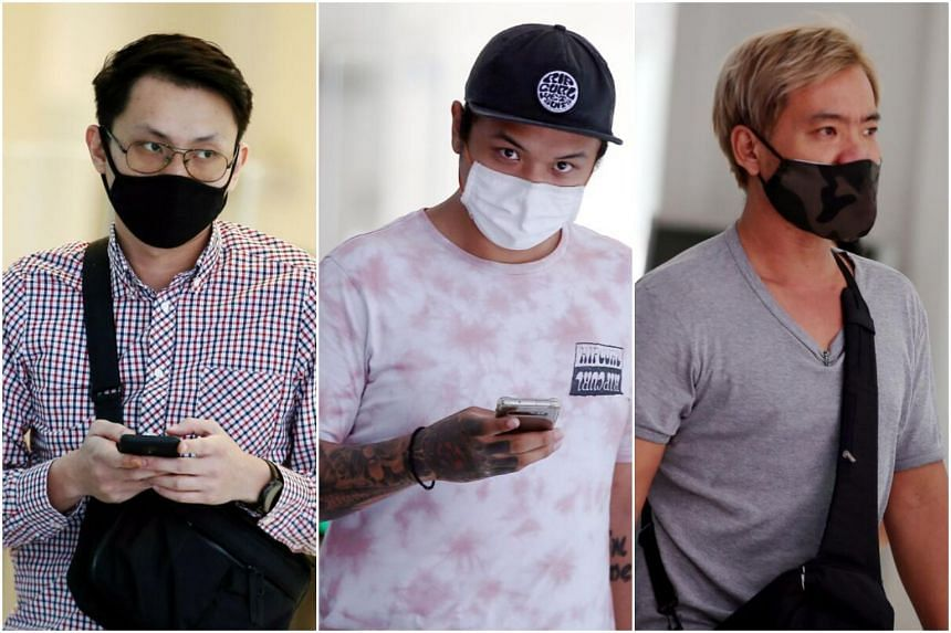 Singaporeans Low Yi Hong, 31, Isaac Choo Chi Kin, 24, and Lee Gee Kian, 42, were each fined between $3,000 and $3,500.
