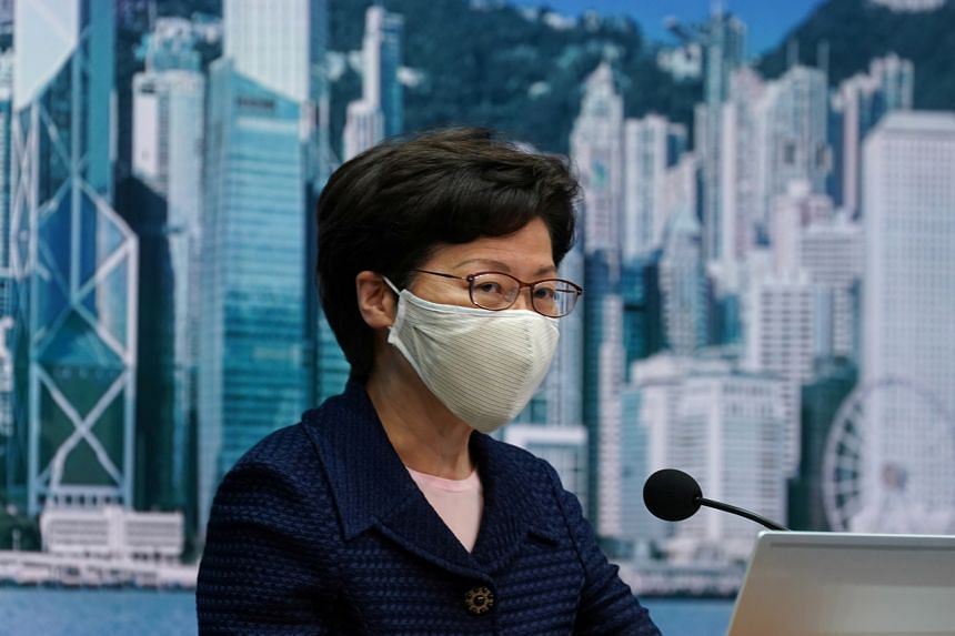 Hong Kong Chief Executive Carrie Lam during a news conference in Hong Kong on July 31, 2020.
